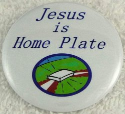 Jesus is home plate button