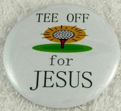 Tee off for Jesus button