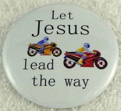 Let Jesus lead the way button